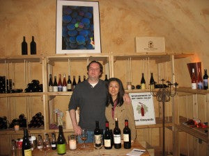 Lynn and myself in the caves at Brack Mountain Winery.