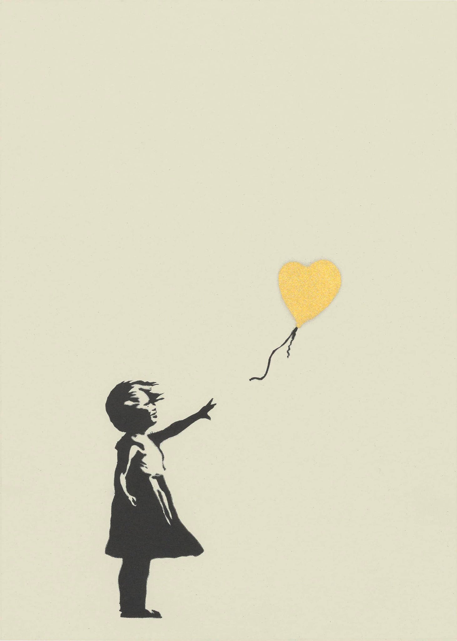 Girl With Balloon (Gold)