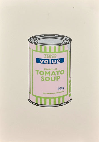 Soup Can (Pale Lilac / Lime / Dark Blue)