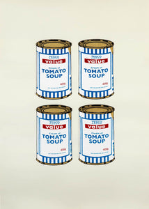 4 Soup Cans (Gold on Cream)