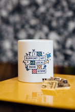 Load image into Gallery viewer, Leeds Indie Food Mug - Support Your Local Indie Scene