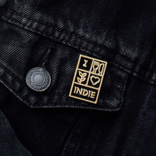 Load image into Gallery viewer, Leeds Indie Food Pin Badge - Support Your Local Indie Scene