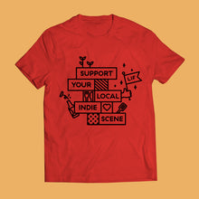 Load image into Gallery viewer, Leeds Indie Food Red T-Shirts