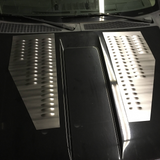 "Steel Angled Louver Panel Set 32"" x 13"" Louvered Hood Vent Pair - Engine/Transmission Cooling Insert"