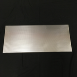 "13"" x31"" Large Panel Engine Turned Sheet Metal For Projects Crafts Windows Doors"