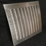 Custom Cut Size Sheet Metal Panels Available Full Of Louvers