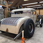 1930 1931 30 31 Chopped Ford Model A Coupe With Louvered Trunk Lid Skin Deck 1932 Ford Frame Chopper Wisconsin