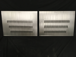 "Hot Rod Louvered Hood Sides - 34"" x 24"" Panels - Steel Louvered Pair / Set"