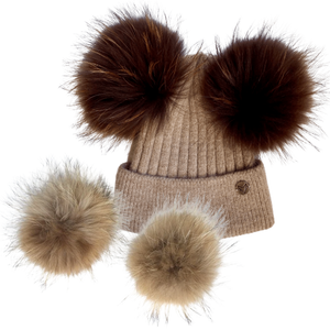 Open image in slideshow, Snowdancer Double Pom Beanie