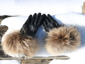 Open image in slideshow, Stoten Lambskin Leather & Cashmere Lined Gloves