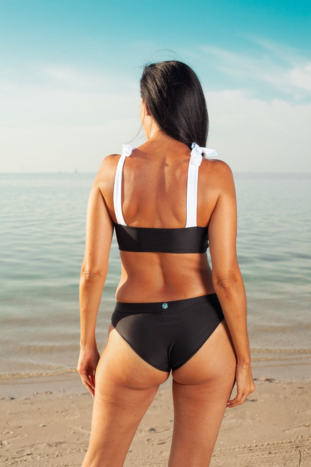Haven Black/White Convertible Bikini