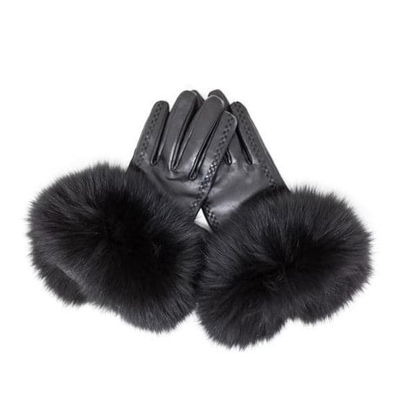Stoten Lambskin Leather & Cashmere Lined Gloves