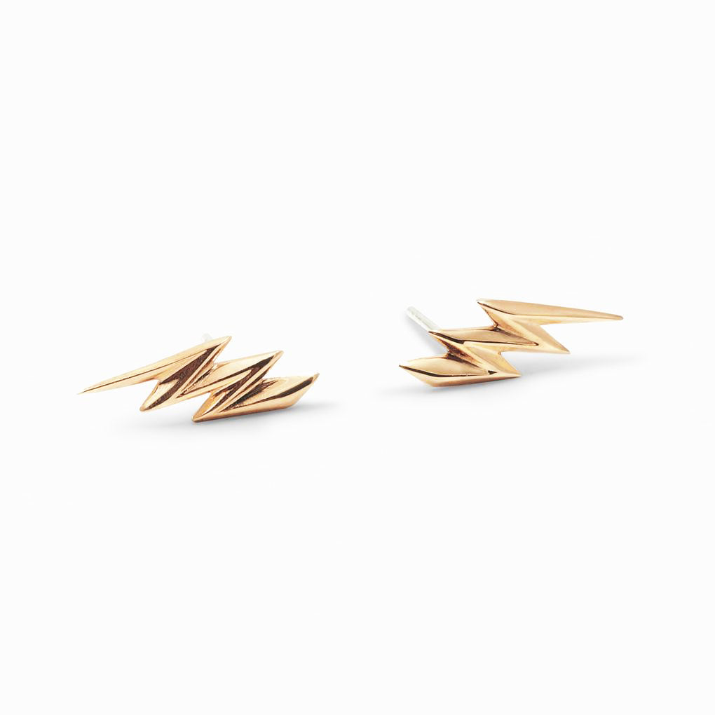 Lightening Studs | 14k Gold