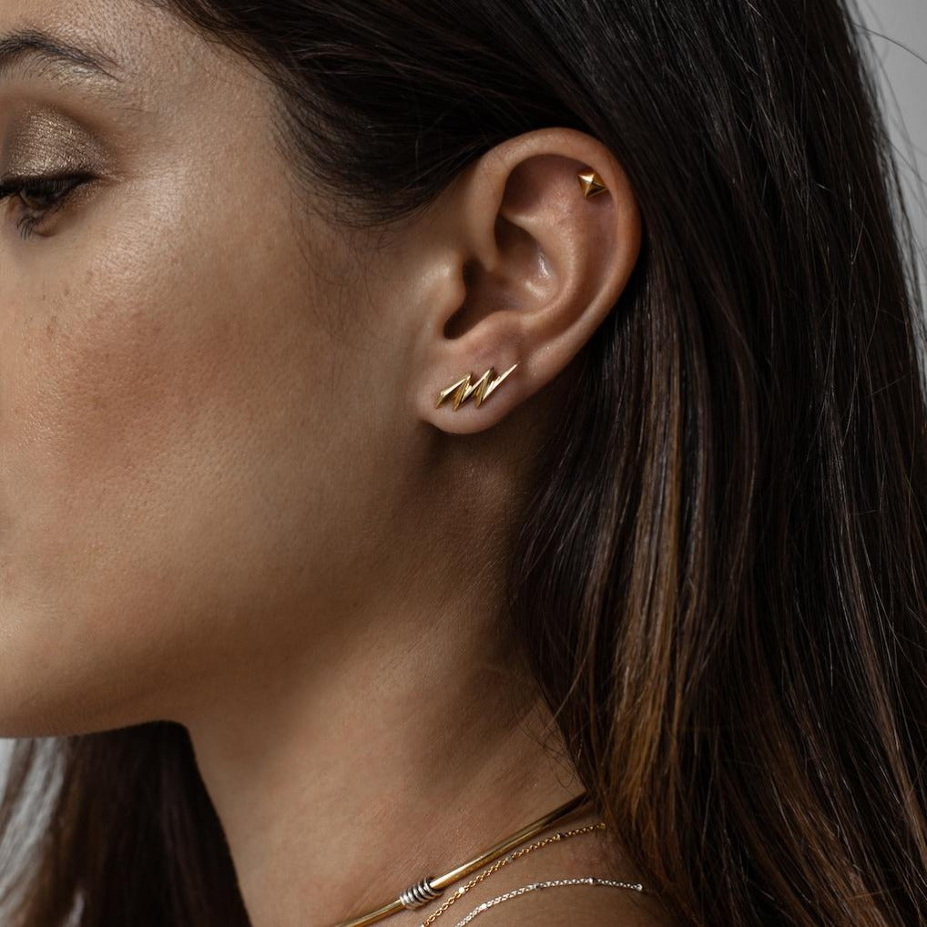 Iza-Jewelry-Nevermind Studs | Gold