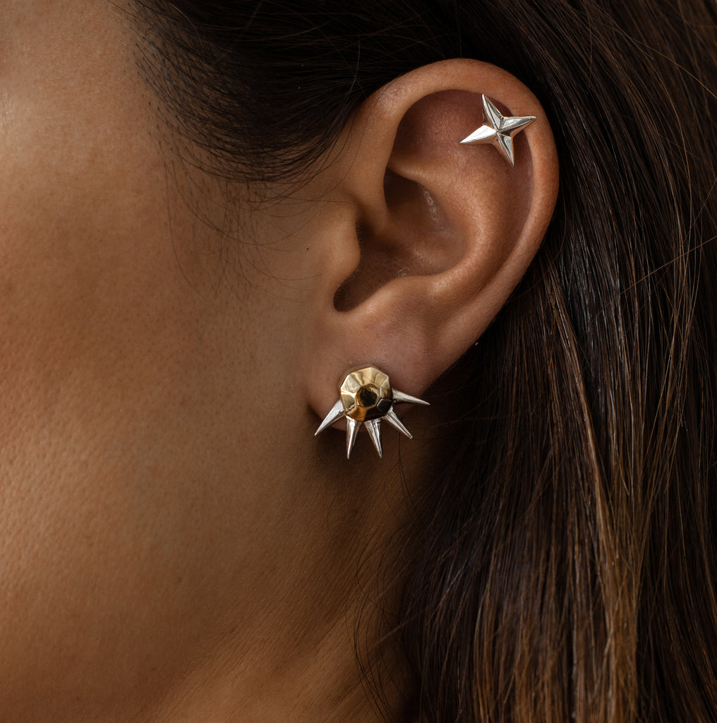 Iza-Jewelry-Star Gazer Earrings | Silver Spikes