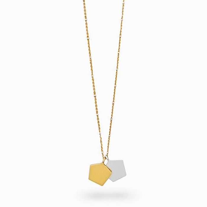 Iza Jewelry Day Dreamer Necklace Gold Vermeil Chain Mixed Metal Sterling Silver for the Classy Tomboy