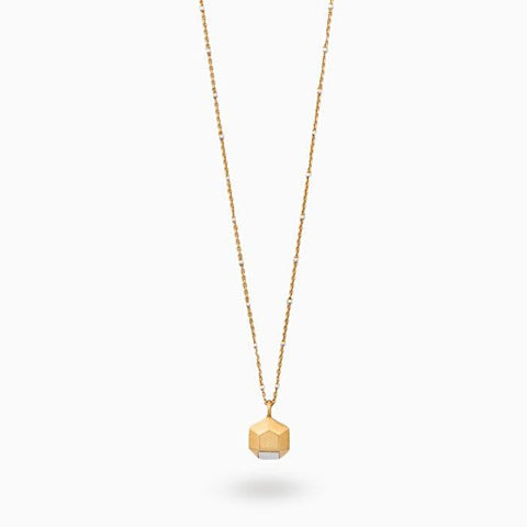 Iza Jewelry Hey Now Necklace Gold Vermeil Chain Mixed Metal Sterling Silver Detail for the Classy Tomboys