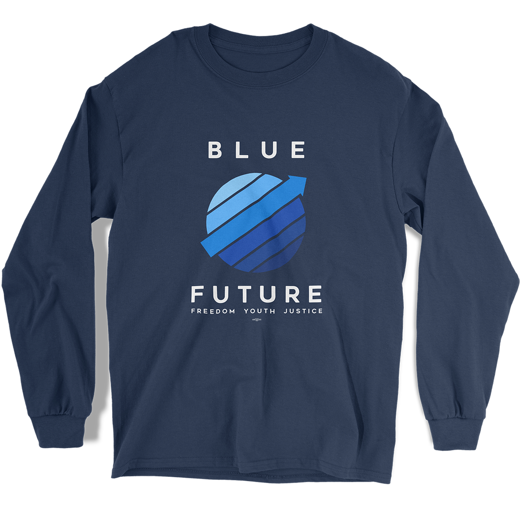 Blue Future Long Sleeve T-Shirt