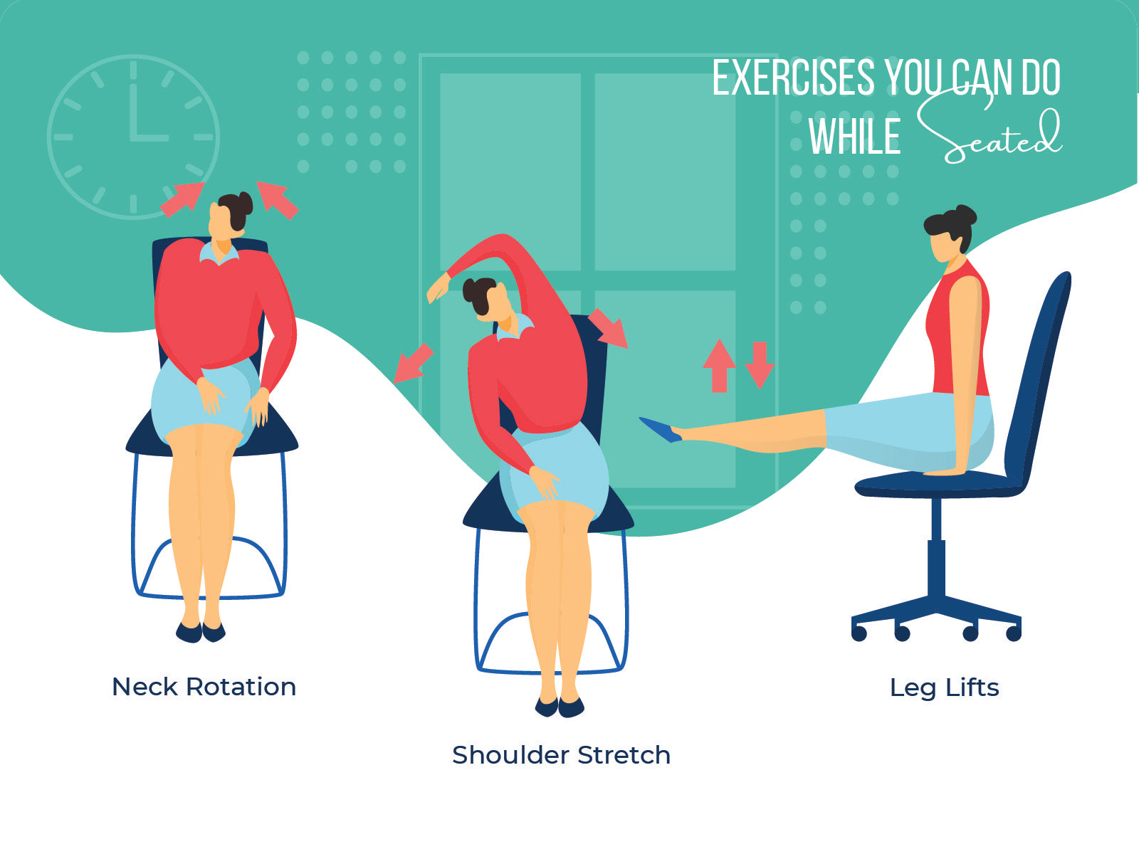 Exercises you can do while seated