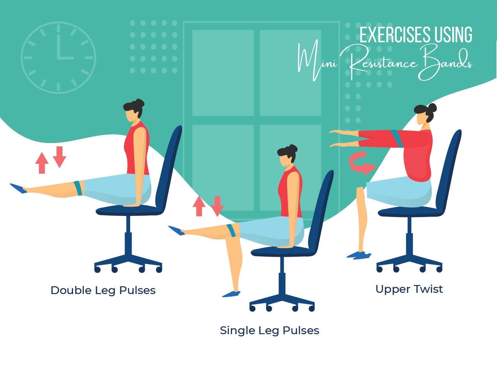 Exercises using mini resistance bands