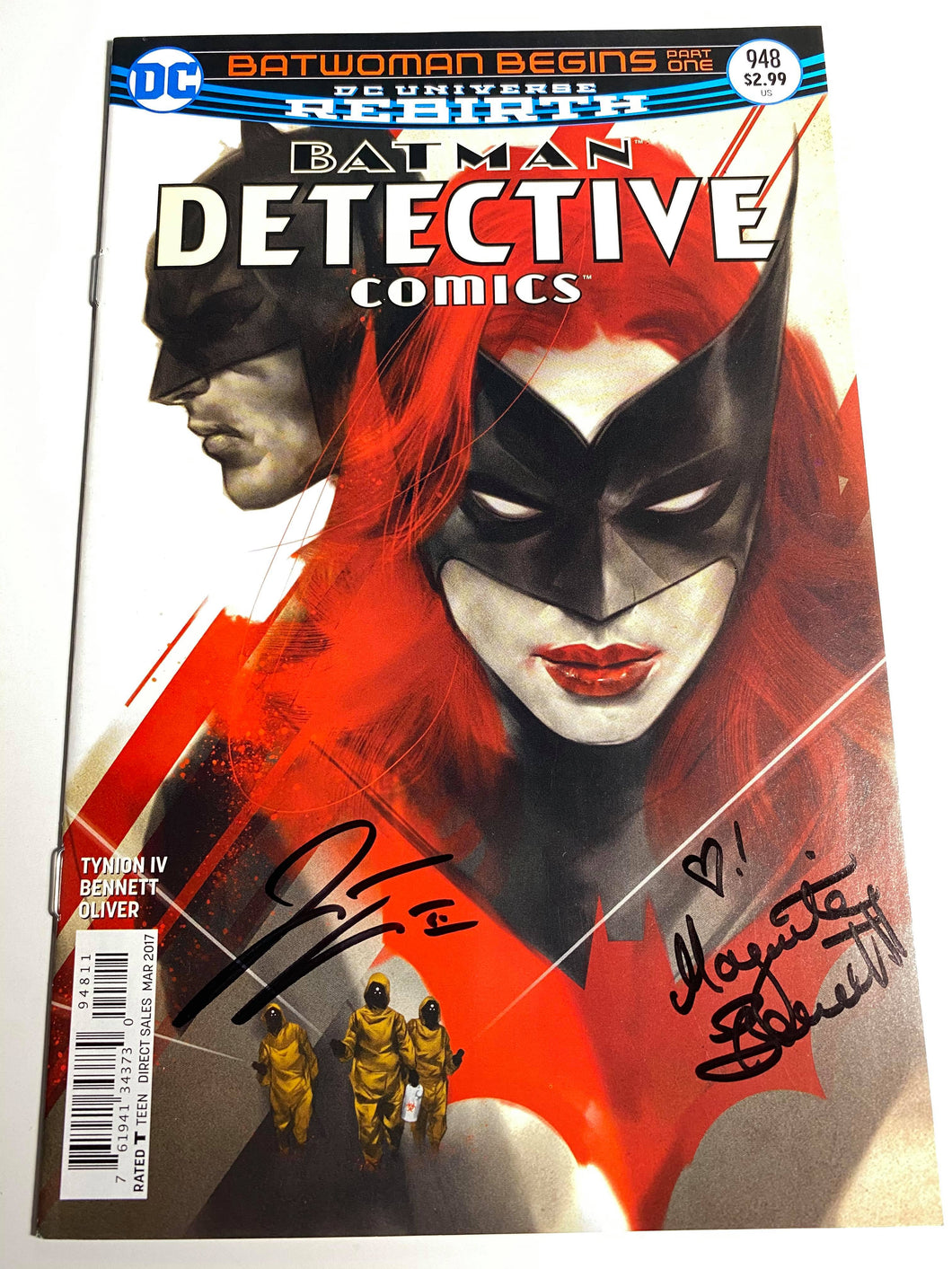 BATMAN DETECTIVE COMICS #948 SIGNED JAMES TYNION IV & MARGUERITE BENNETT COMIC BOOK