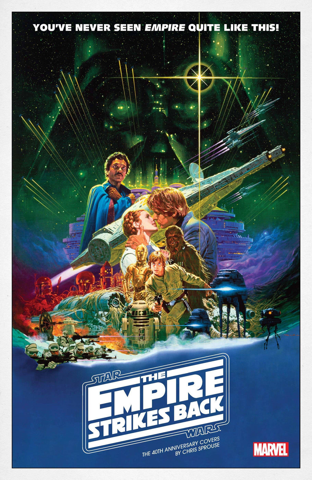 STAR WARS EMPIRE 40TH ANNIV CVR SPROUSE #1 MOVIE POSTER VAR