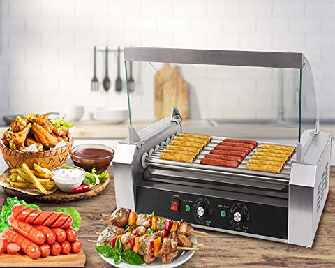 Hot Dog Grill Cooker Machine with Cover