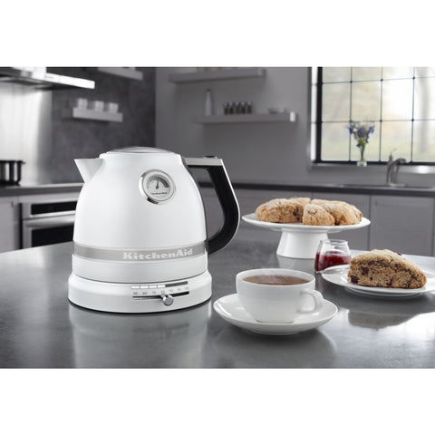 KitchenAid Pro Line Frosted Pearl White Electric Kettle