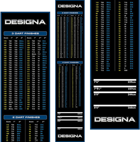 Designa Dart Carpet Mat - Blue Checkout Design