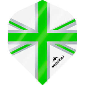 Mission Alliance Flights - Std No2 - 100 Micron - Union Flag White/Green