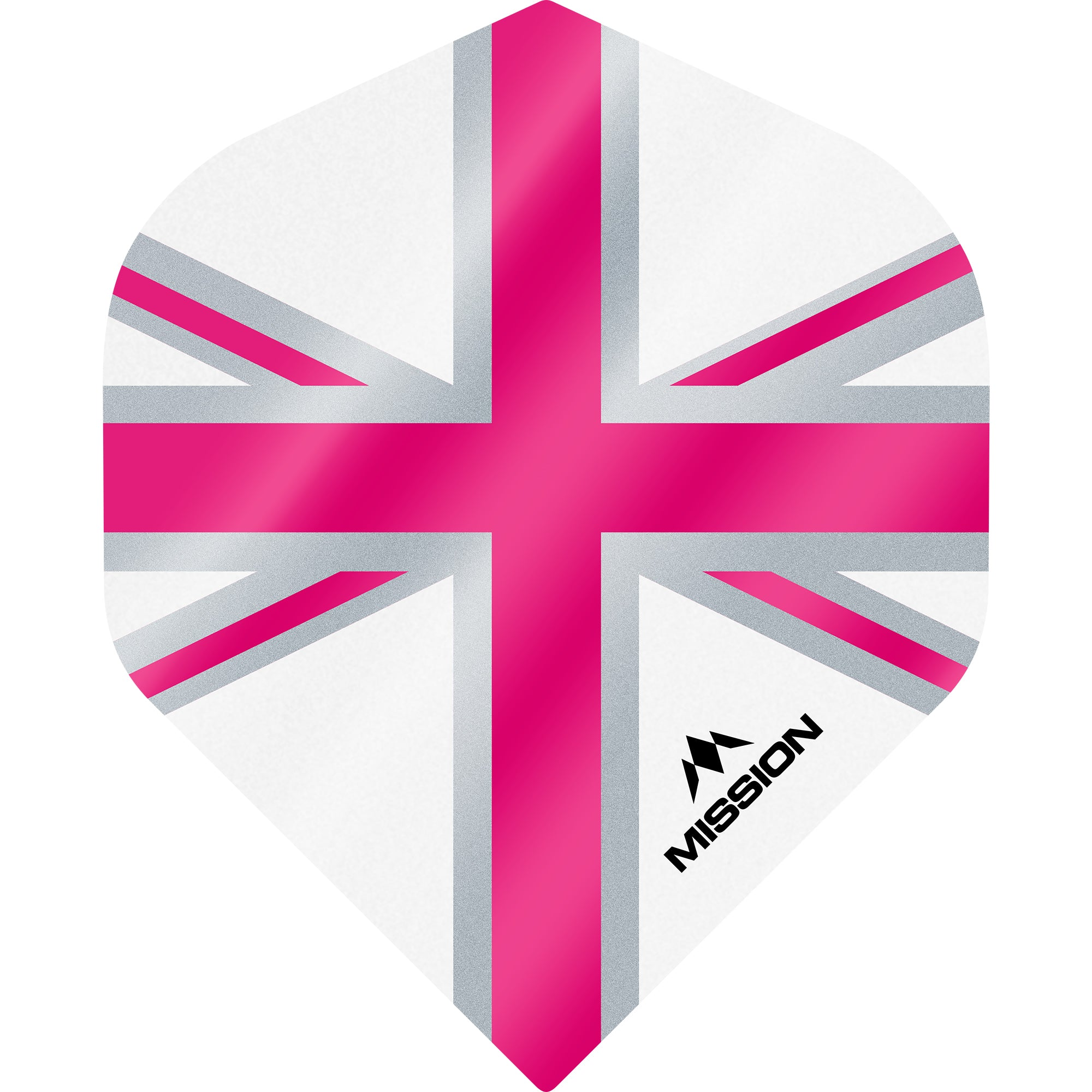 Mission Alliance Flights - Size No2 - 100 Micron - Union Flag White/Pink