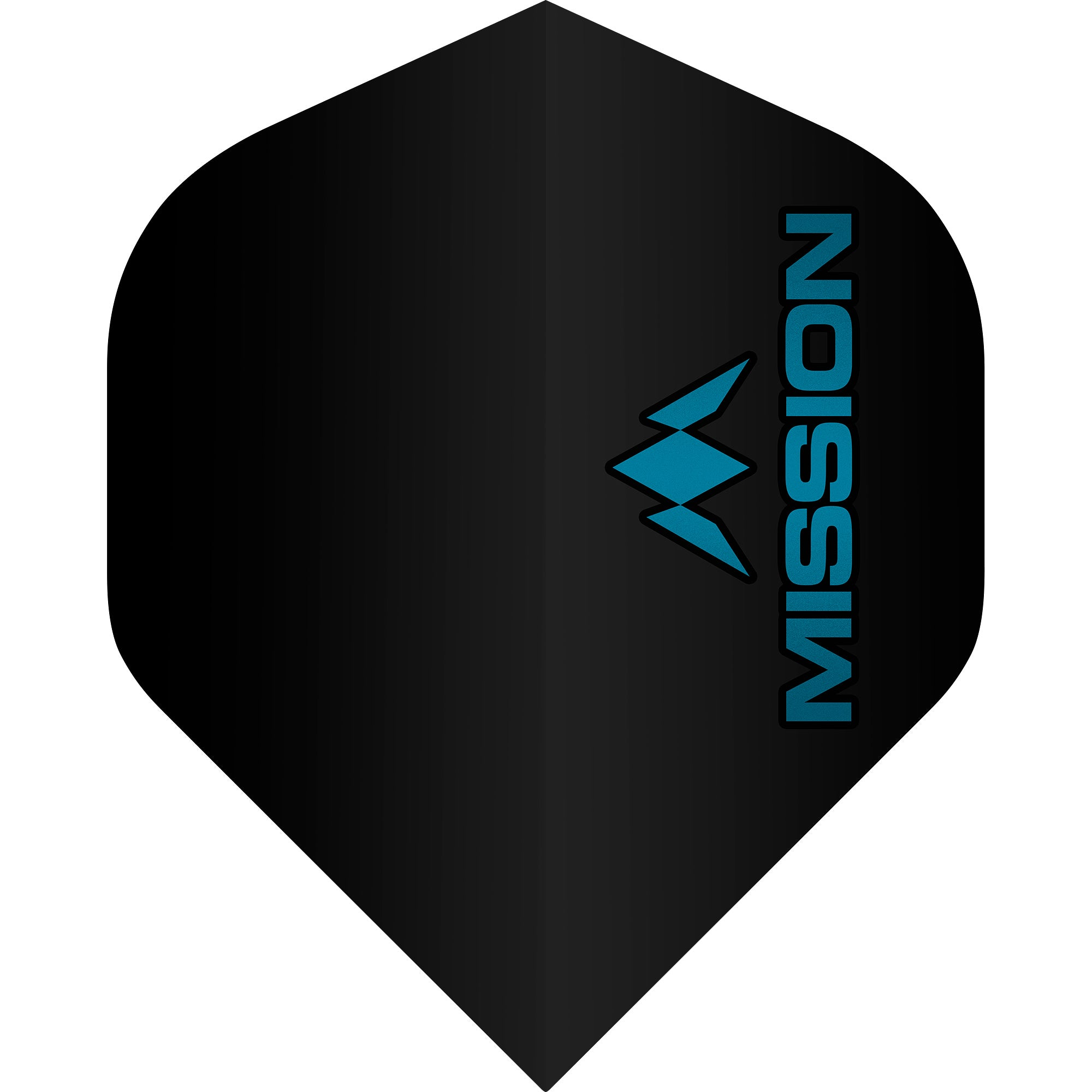 Mission Logo Flights - Std No2 - 100 micron - Black/Blue