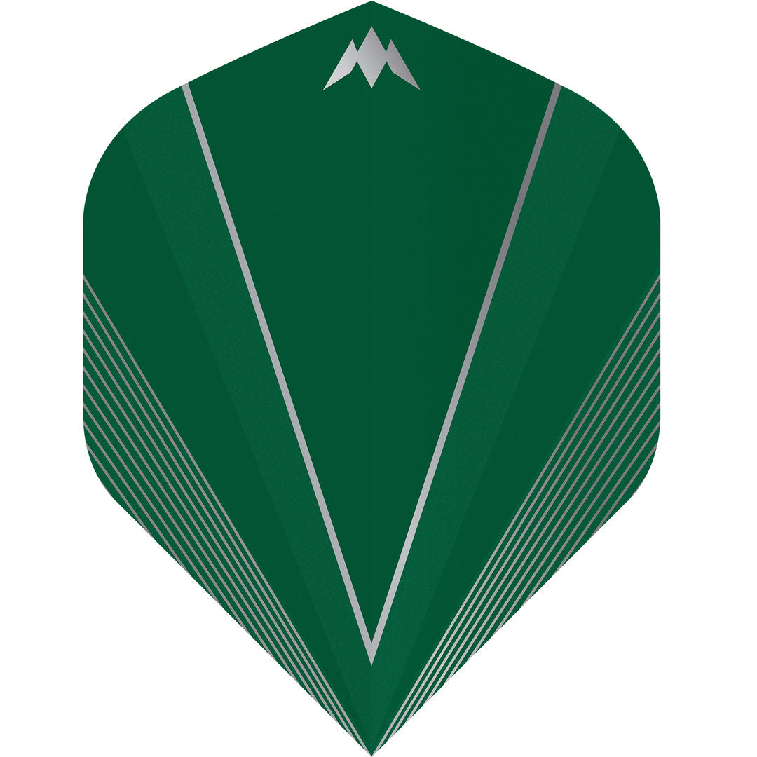 Mission Shades 100 Micron Quality Flights - Std No2 - Green