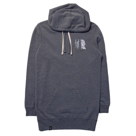 Horrific Thoughts Hooded Pullover Dress (Heather Grey)