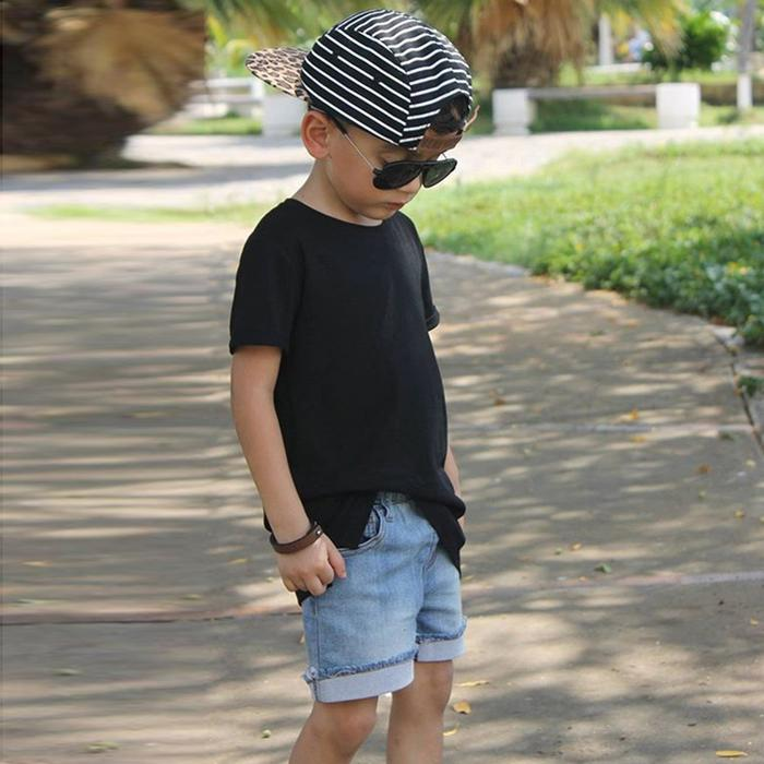 Boys Tee and Denim Shorts Set