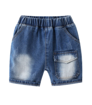 Boys Front Pocket Denim Shorts