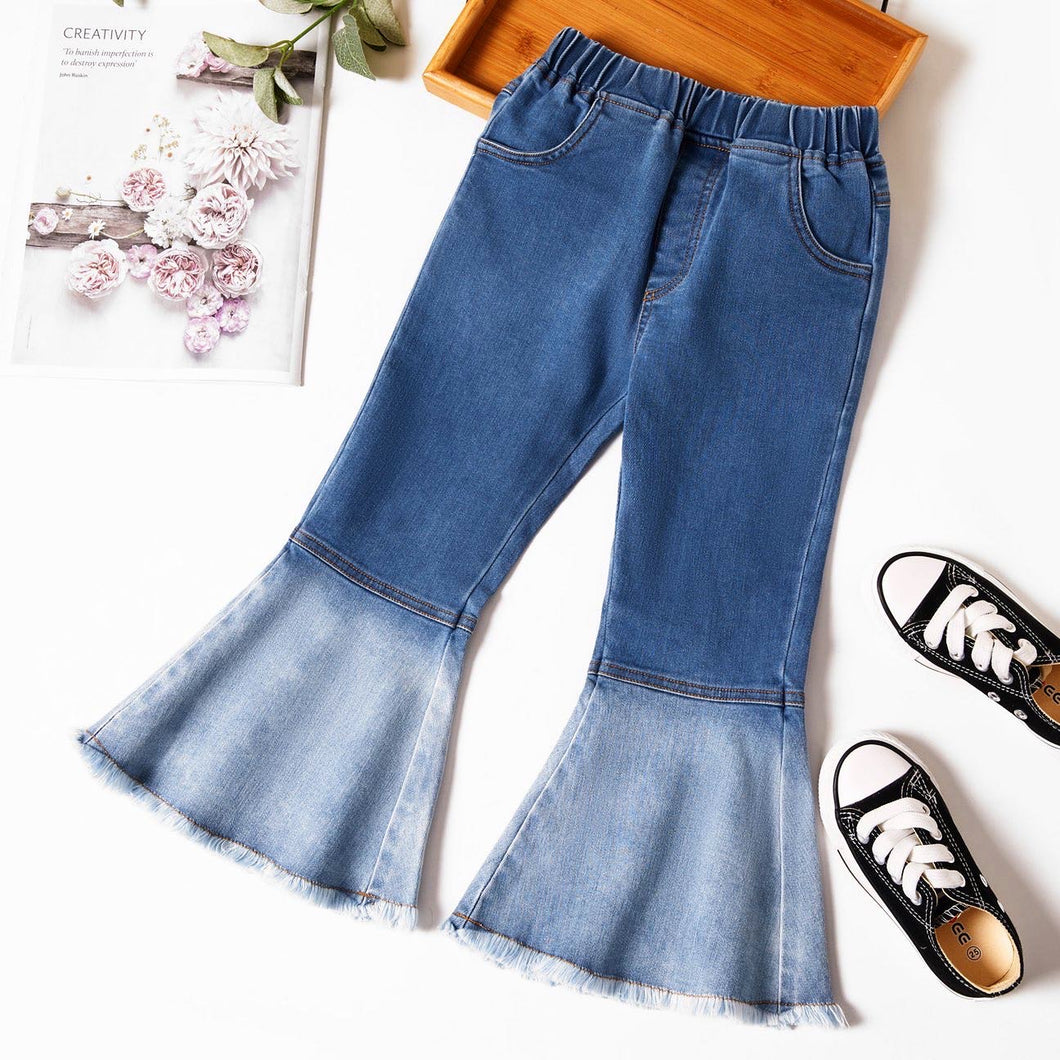 Girls Retro Flare Jeans