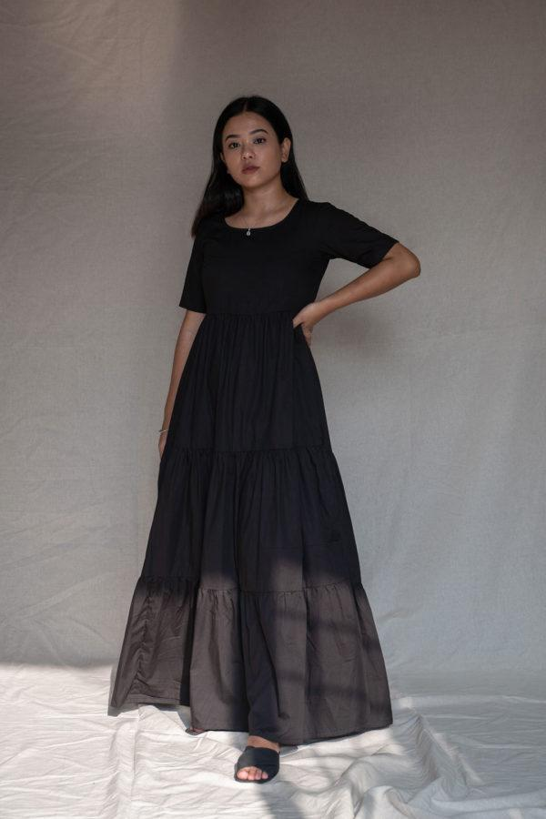 Black Ruhaani Dress Dresses Angrakhaa.com