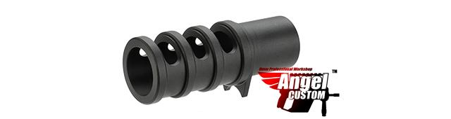 Angel Custom CNC Aluminum Compensator for TM / WE 1911 Series Airsoft GBB Pistols (Color: Black)