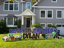 Load image into Gallery viewer, 'DYLAN' Blue Birthday Gamer Theme