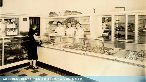 Mildred, Becky & Edith Assist a Customer