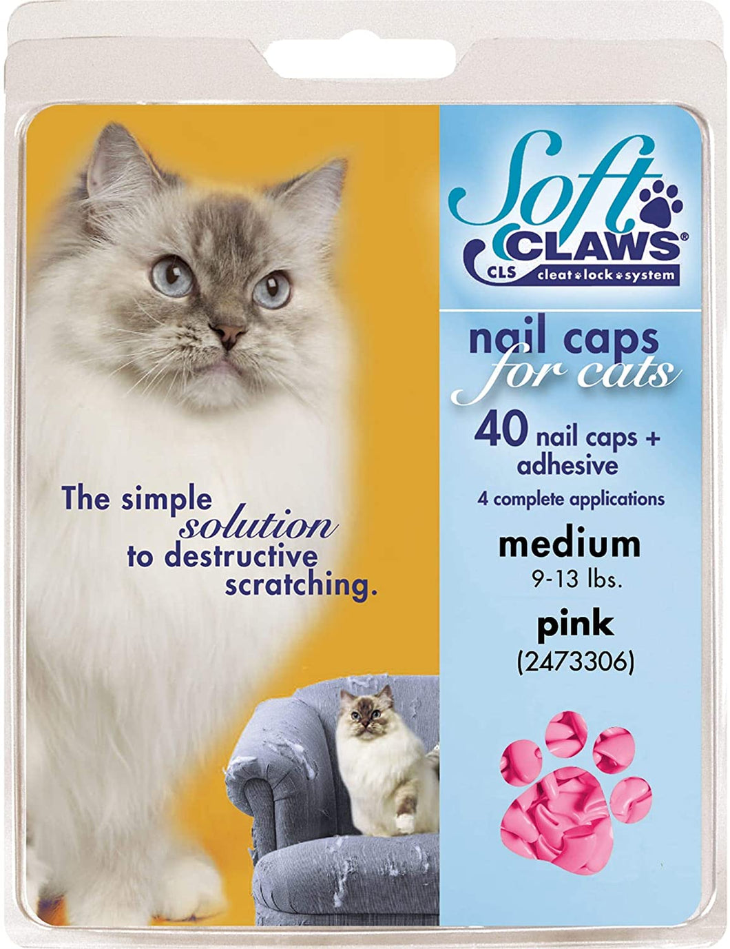 Soft Claws couvre-griffes medium (9-13lbs)