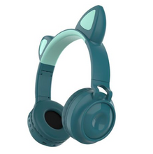 Load image into Gallery viewer, Cat Ear Headphones - Green