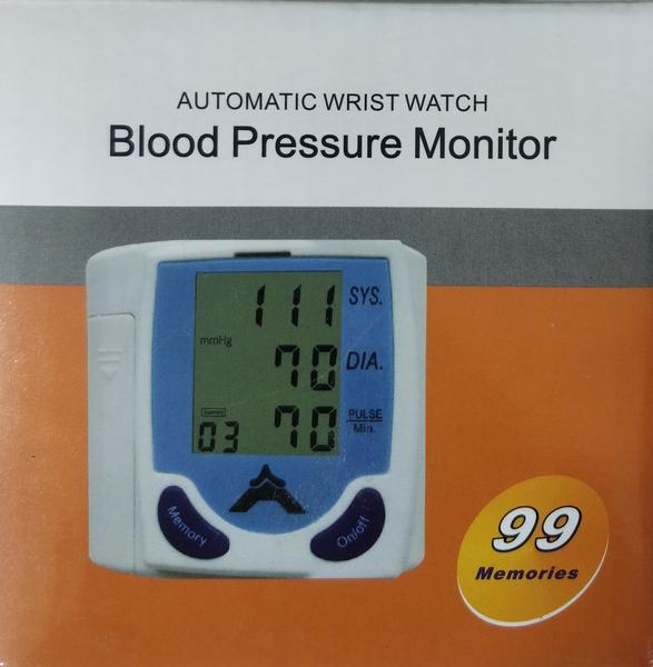Automatic Wrist Watch Blood Pressure Monitor