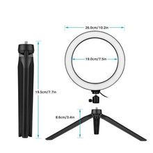 Load image into Gallery viewer, 10 Inch Ring Light With Tripod Base