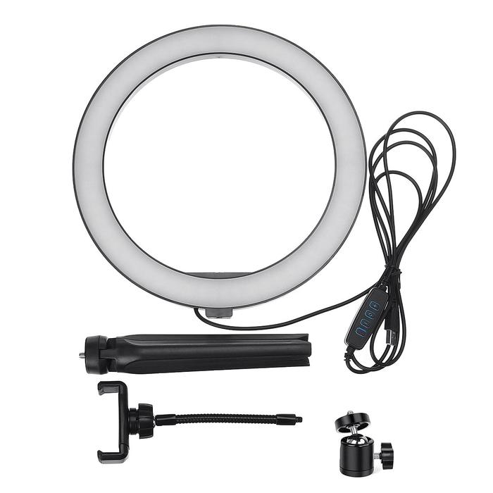 10 Inch Ring Light With Tripod Base