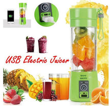 Load image into Gallery viewer, Portable Juicer Blender 6 Blades Rechargeable - Green