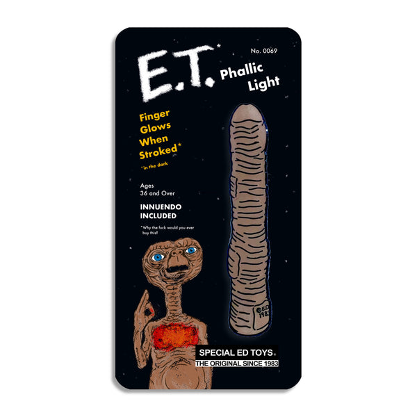 "The E.T. Phallic Light: 2"" Soft Enamel Pin With Epoxy!"