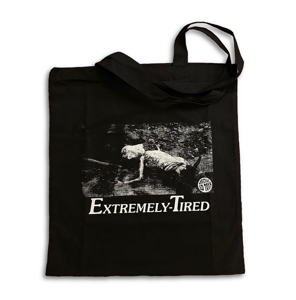 Extremely-Tired: Black Canvas Tote