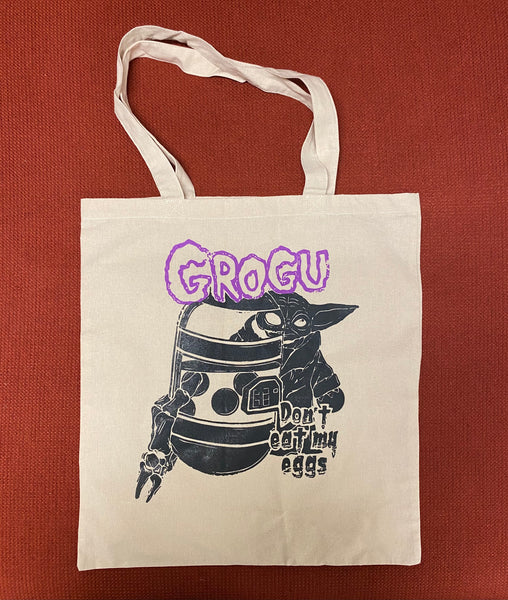 Grogu - Don't Eat My Eggs: Natural Canvas Tote